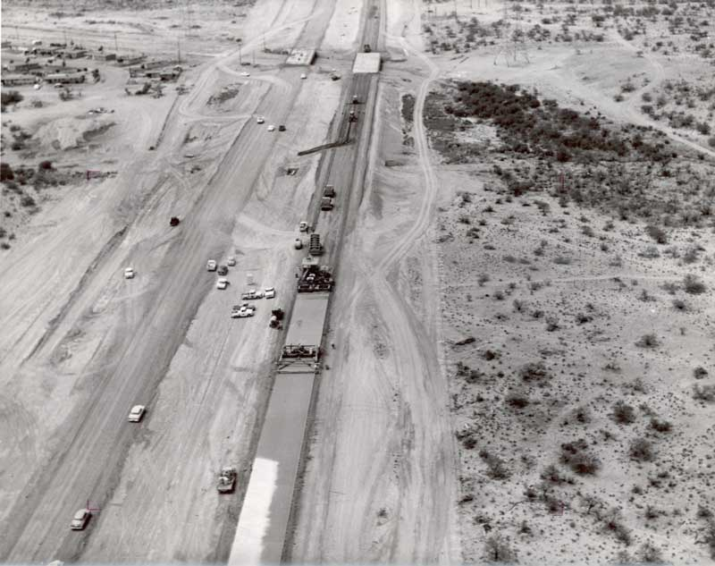 An aerial view of I-19's original construction in the 1960s. (Photo: Arizona Department of Transportation)