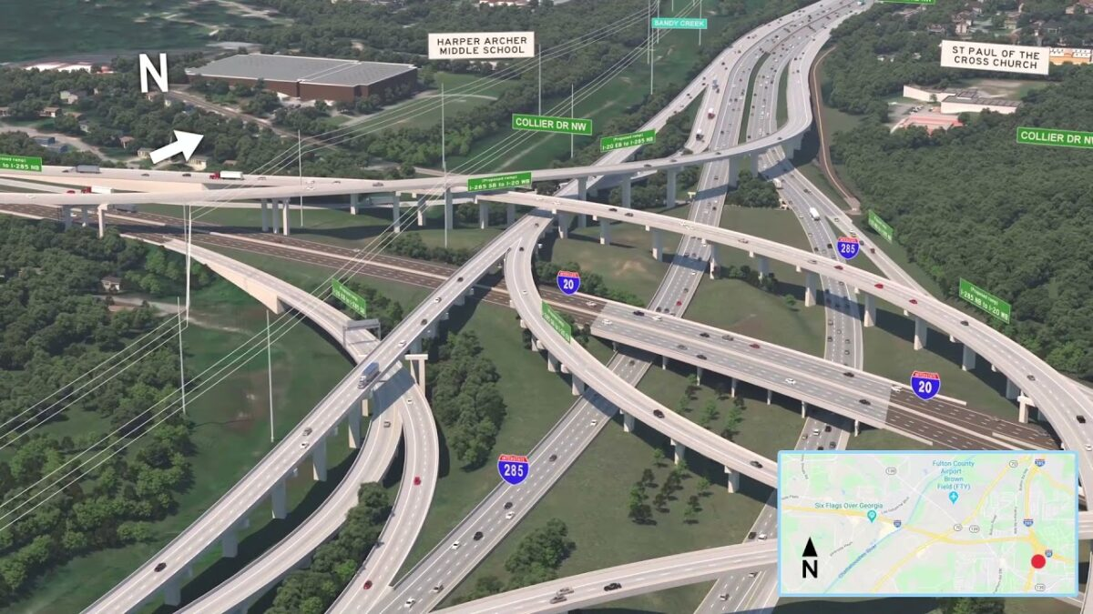 An aerial view of I-20W and I-285. (Photo: Georgia Department of Transportation)