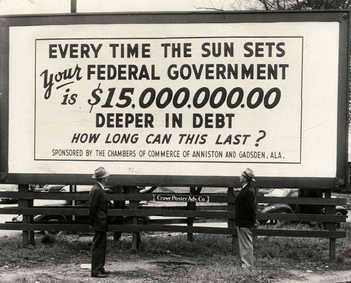 Don't you wish the debt was only that small now? (Photo: Alabama Department of Archives and History)