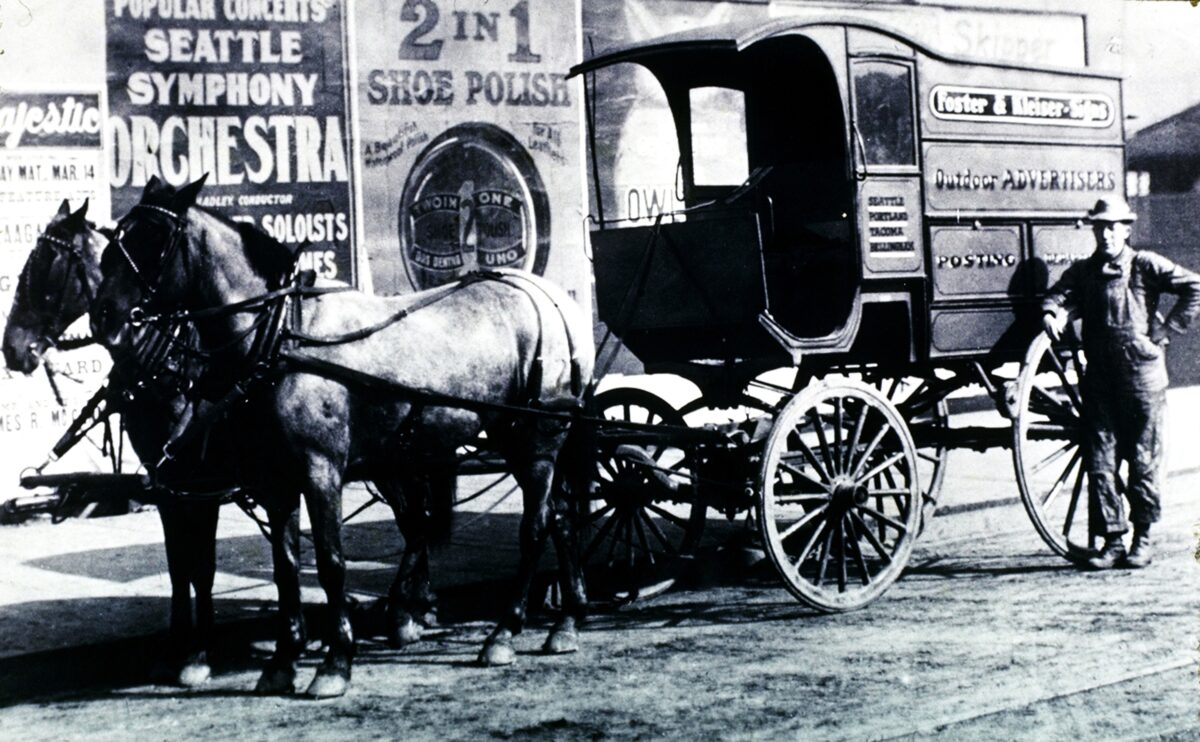 Before highways, cars or trucks, there were outdoor advertisements. (Photo: Outdoor Advertising Association of America)