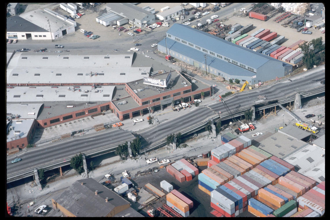 The Cypress Street Viaduct collapse. (Photo: U.S. Geological Service)