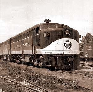 A Tennessee Central locomotive. The Tennessee Central was the Illinois Central's last acquisition. (Photo: Tennessee Central Railroad Museum)