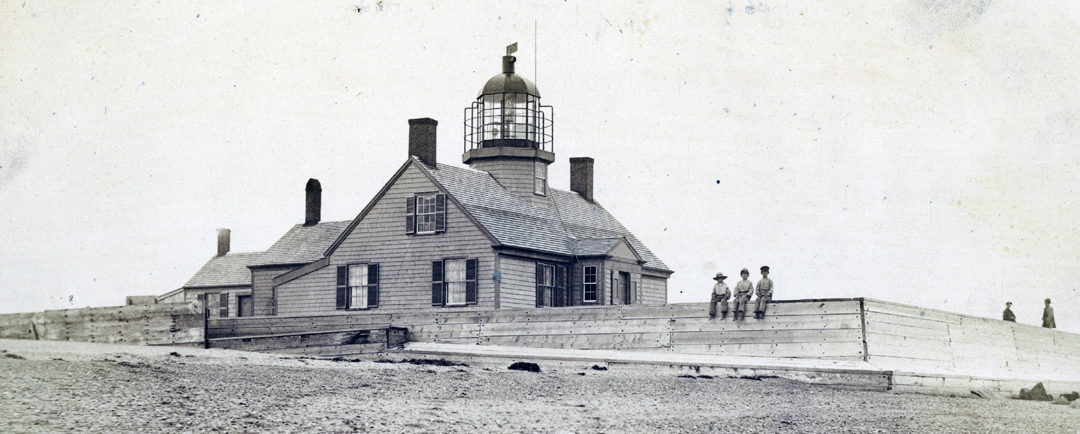 This is a historical photo of the Long Point Light Station in Provincetown, MA. (Photo: American Lighthouse Foundation)
