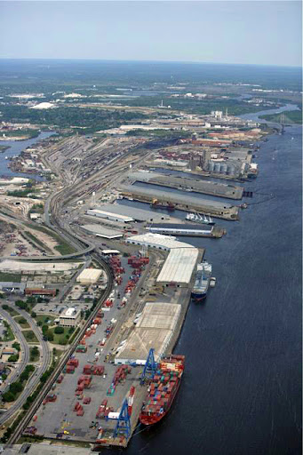 Another aerial view of the Port of Mobile.  (Photo: Alabama State Port Authority)