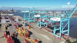Heavy-duty cranes at the Port of Mobile. (Photo: Alabama State Port Authority)