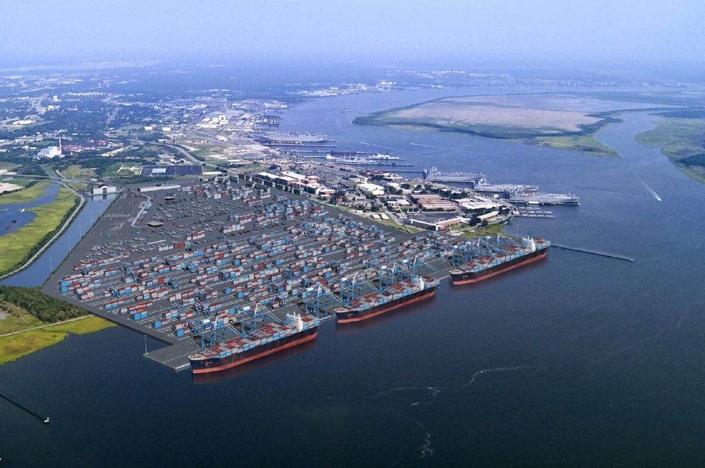 An aerial view of the South Carolina Ports Authority complex. (Photo: SCPA)