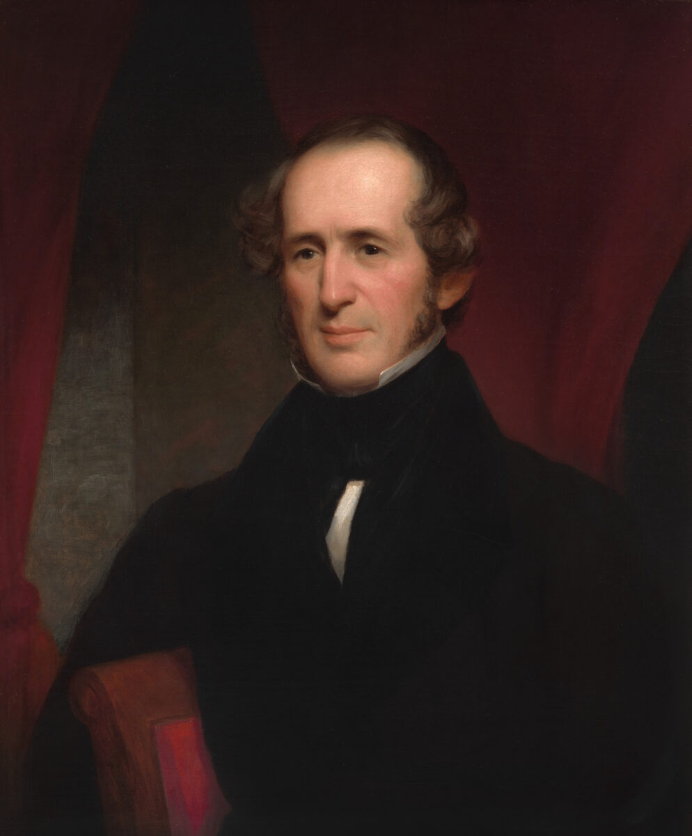 A portrait of Cornelius Vanderbilt painted in 1846 by Nathaniel Jocelyn.  (Image: National Portrait Gallery of the Smithsonian Institution)
