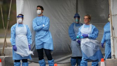 Volunteers with the Medical Reserve Corps in Philadelphia administer COVID-19 tests in 2020. (Photo: HHS)