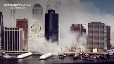 """The 9/11 """"boatlift"""" seen from the New York harbor. (Photo: INSH.world)"""