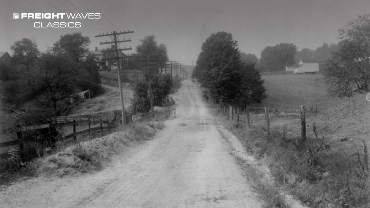 An example of most U.S. roads during the 1890-1920 time period. (Photo: Federal Highway Administration)