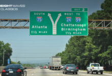Sign points the way to I-24 West from I-75 South. (Photo: interstate-guide.com)