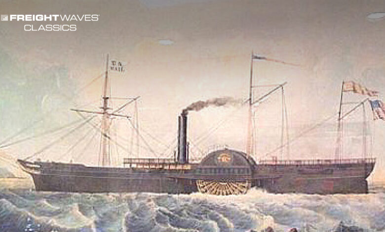Pacific Mail Steamship Co.'s SS Tennessee. (Image: California State Library)
