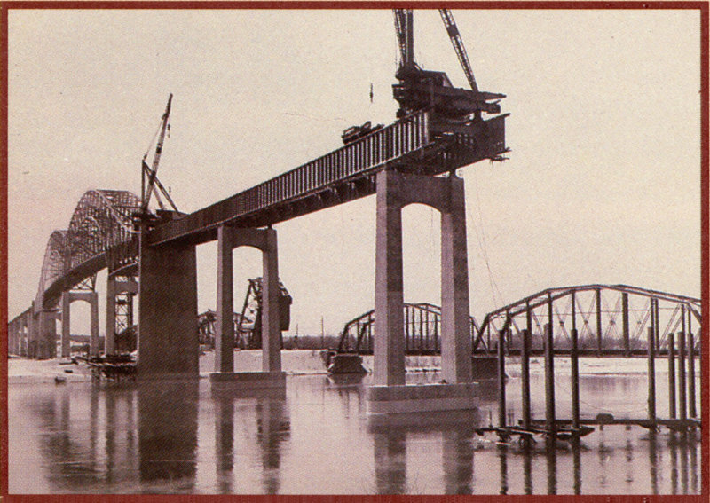 Construction of the Sault Ste. Marie International Bridge. (Photo: International Bridge Authority)