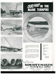 An ad to publicize the company's involvement in the turnpike construction. (Photo: Bangor Public Library Digital Collections)