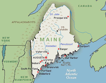 Map of Maine.