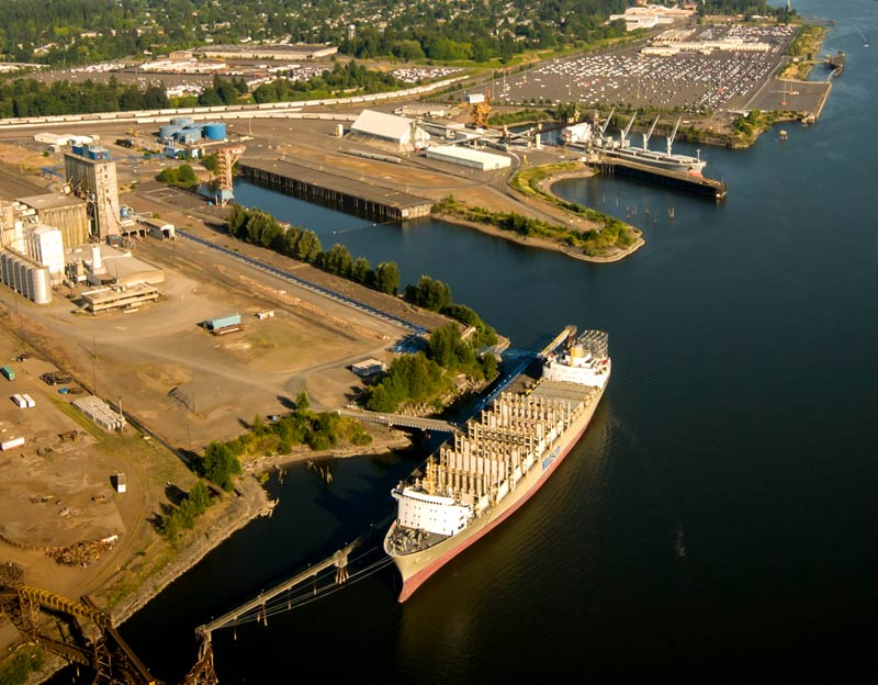 An aerial view of Portland's Terminal 4. (Photo: Port of Portland)