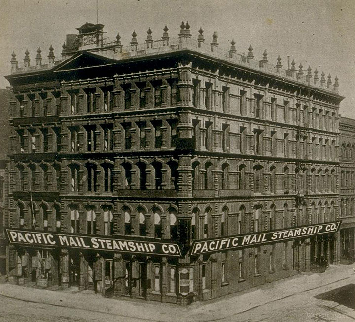The Pacific Mail Steamship Co.'s San Francisco headquarters in 1896. (Photo: Shaping San Francisco)