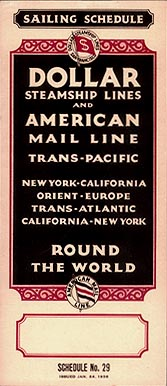 Dollar Steamship Lines/American Mail Line Sailings October 1935-August 1937 (issued January 24, 1936).  (Image: timetableimages.com)