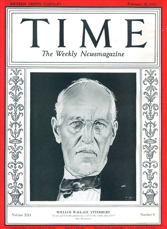 TIME magazine recognized Atterbury on the cover of its February 20, 1933 issue.  (Photo: Author's collection)