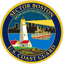 A U.S. Coast Guard patch for Sector Boston stating that the USCG began in Boston. (Image: U.S. Coast Guard Sector Boston Facebook page)