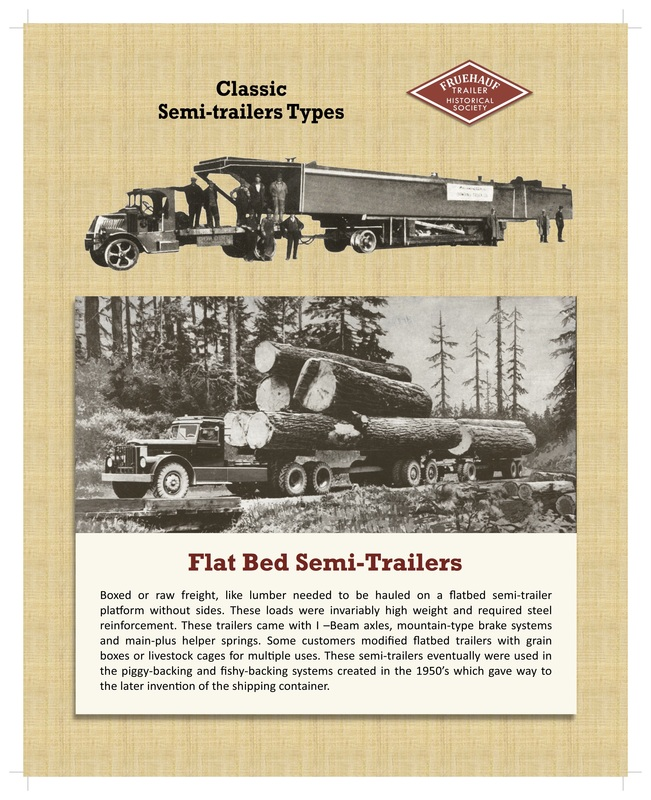 Photos and an explanation of flat bed trailers. (Photo/text: singingwheels.com)