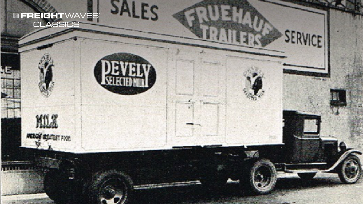 A Fruehauf refrigerated trailer manufactured for Pevely Select Milk. (Photo: singingwheels.com)