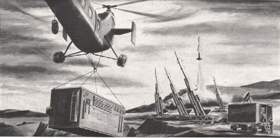A helicopter delivers an intermodal container to a U.S. missile site. (Image: singingwheels.com)