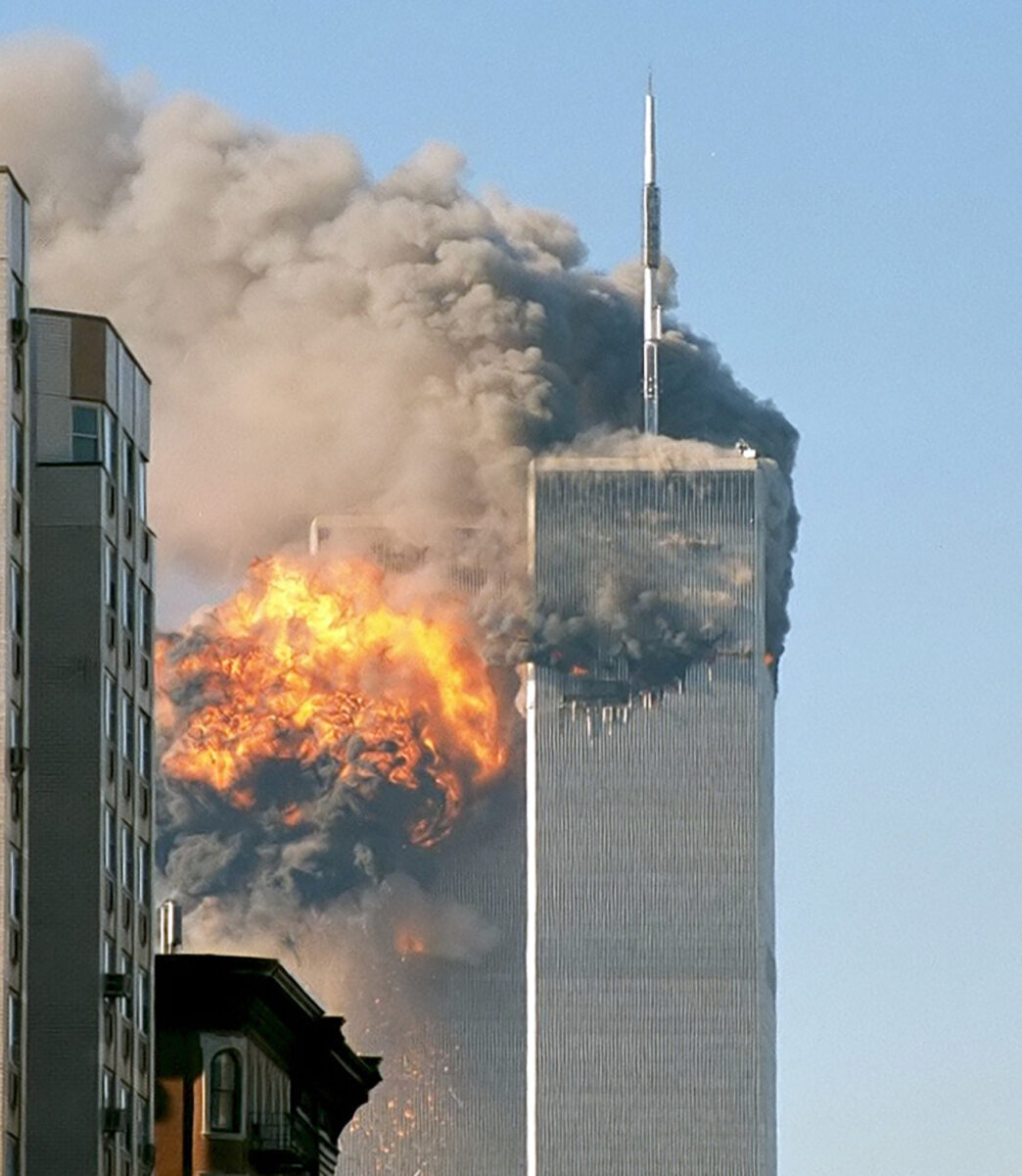 The Twin Towers under attack. (Photo: ASCE)