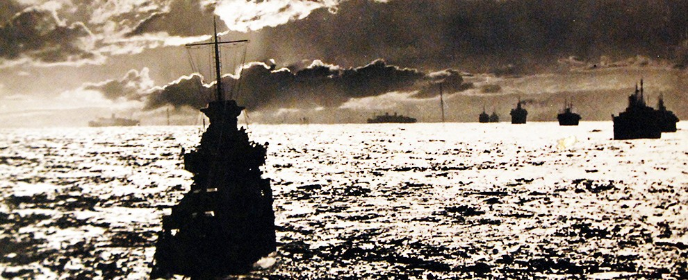 A convoy of merchant ships in the North Atlantic during World War II. (Photo: Naval History and Heritage Command)