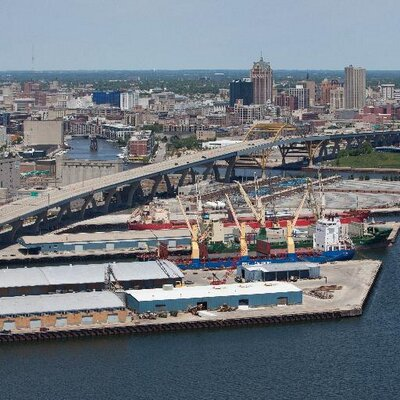 An aerial view of a section of Port Milwaukee. (Photo: Port Milwaukee)