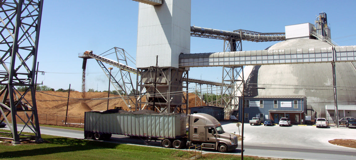 Part of the grain complex at the port. (Photo: Port of South Louisiana Facebook page)