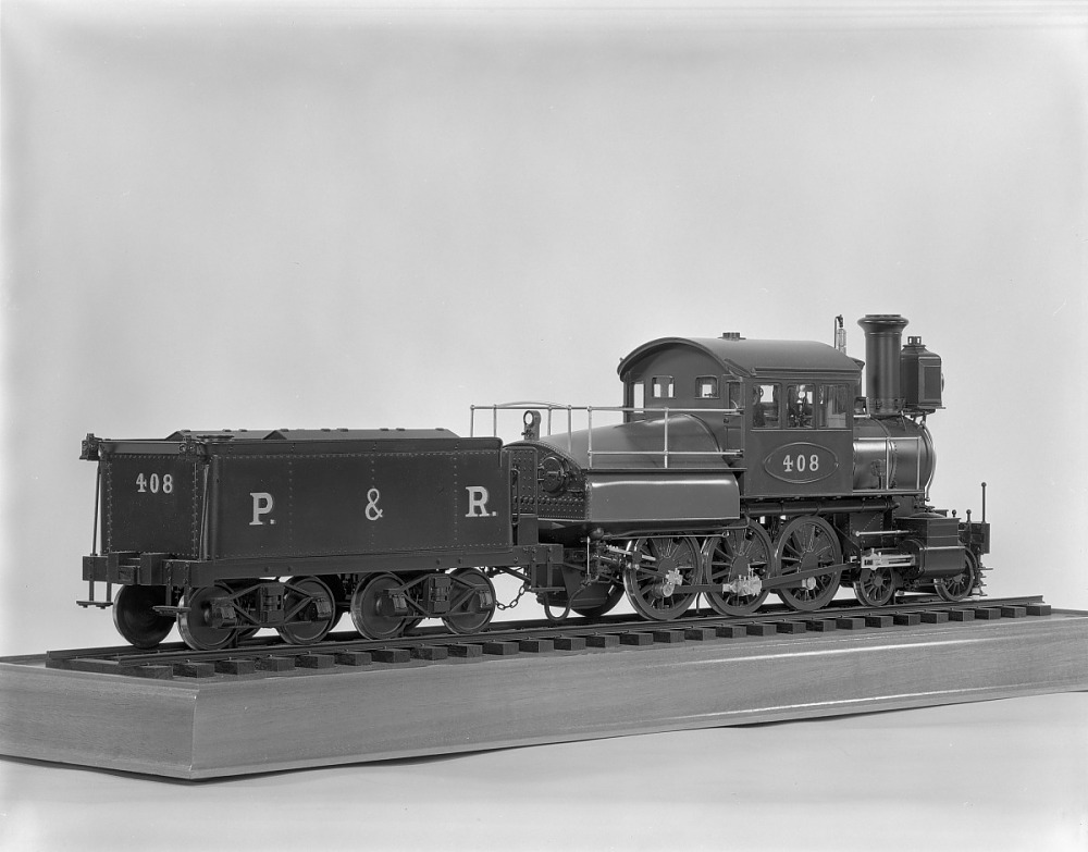 Model locomotive and tender (P&R #408, 1877, Wooten. (Photo: National Museum of American History-Smithsonian Institution)