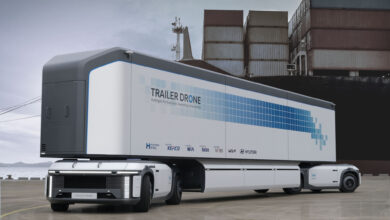 Hyundai Trailer Drone and e-Bogie technology aims to bring sustainability to trucking