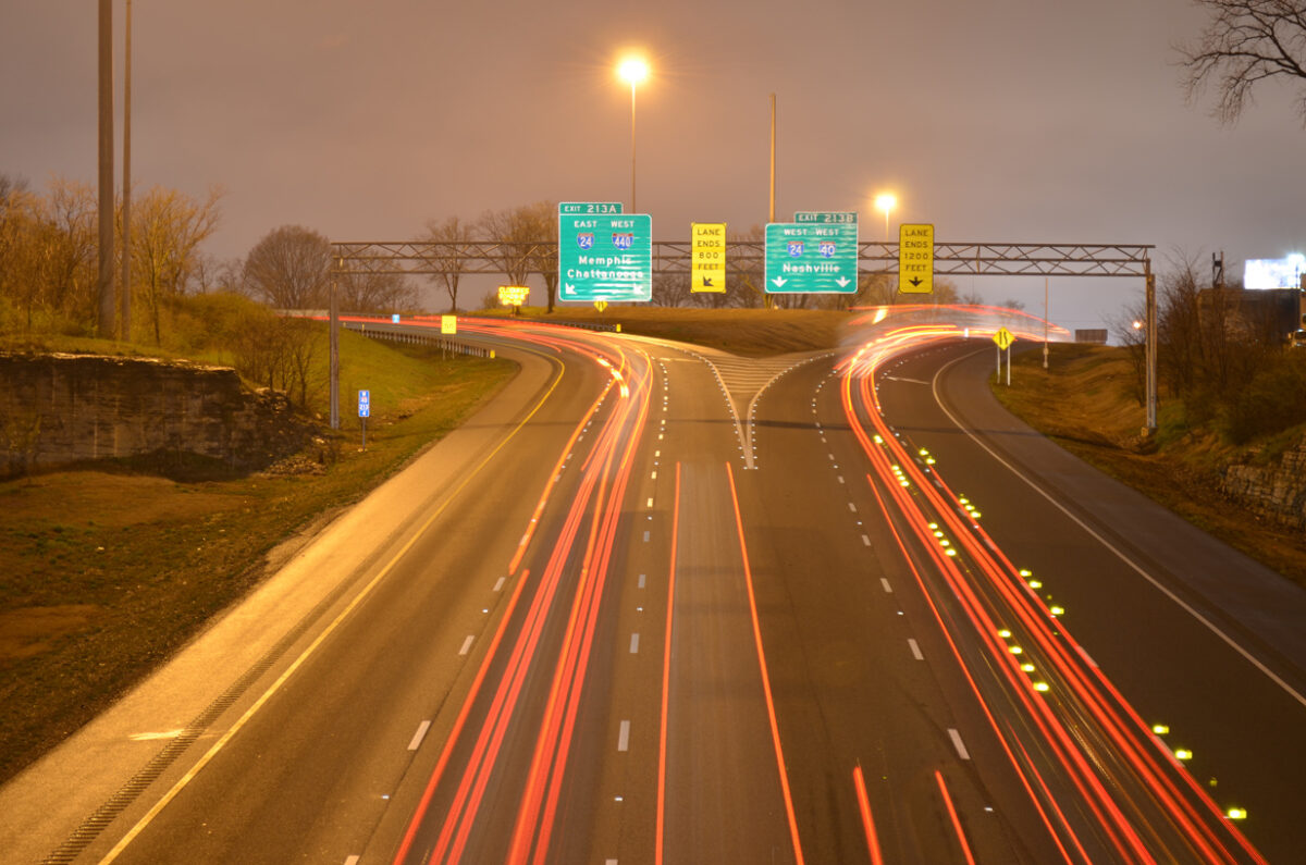 I-24 and I-40 combine near Nashville for a short distance. (Photo: interstate-guide.com)