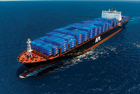 The APL Boston can carry as many as 9,000 TEUs. (Photo: APL)