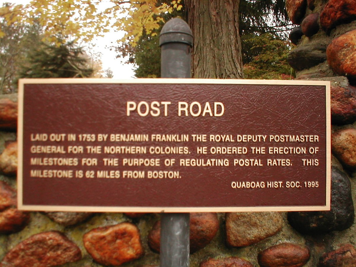 American postal routes began before the American Revolution.  (Photo: SPUI / wikicommons)
