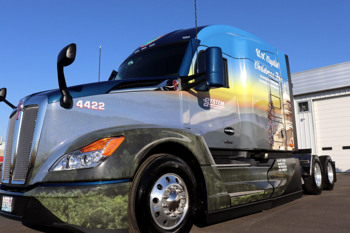 The Log Book: Custom-wrapped Kenworth to haul Capitol Christmas tree