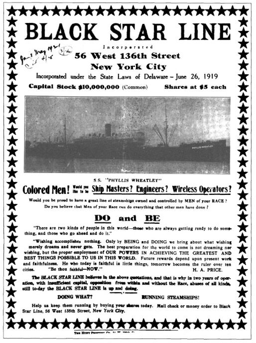 This was the mailing for which Garvey was found guilty of federal mail fraud charges. (Image: Wikimedia Commons)