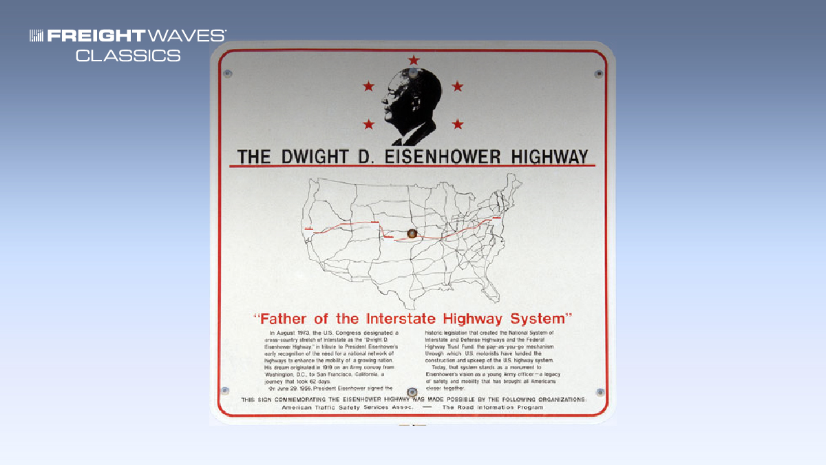 A sign that signifies the official name of the U.S. Interstate Highway System. (Photo: noehill.com)