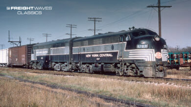 A New York Central freight train. (Photo: James C. Suh Collection/New York Central System Historical Society)