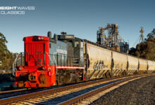 """A freight train of the """"new"""" Northwestern Pacific Railroad. (Photo: Jamie Miller/NWPRR)"""