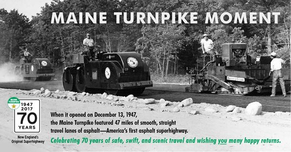 A turnpike construction photo re-released on the turnpike's 70th anniversary in 2017. (Photo: MTA)