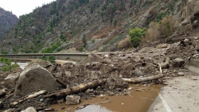 Mudslide across I-70 in Glenwood Canyon, Colorado in early August 2021.