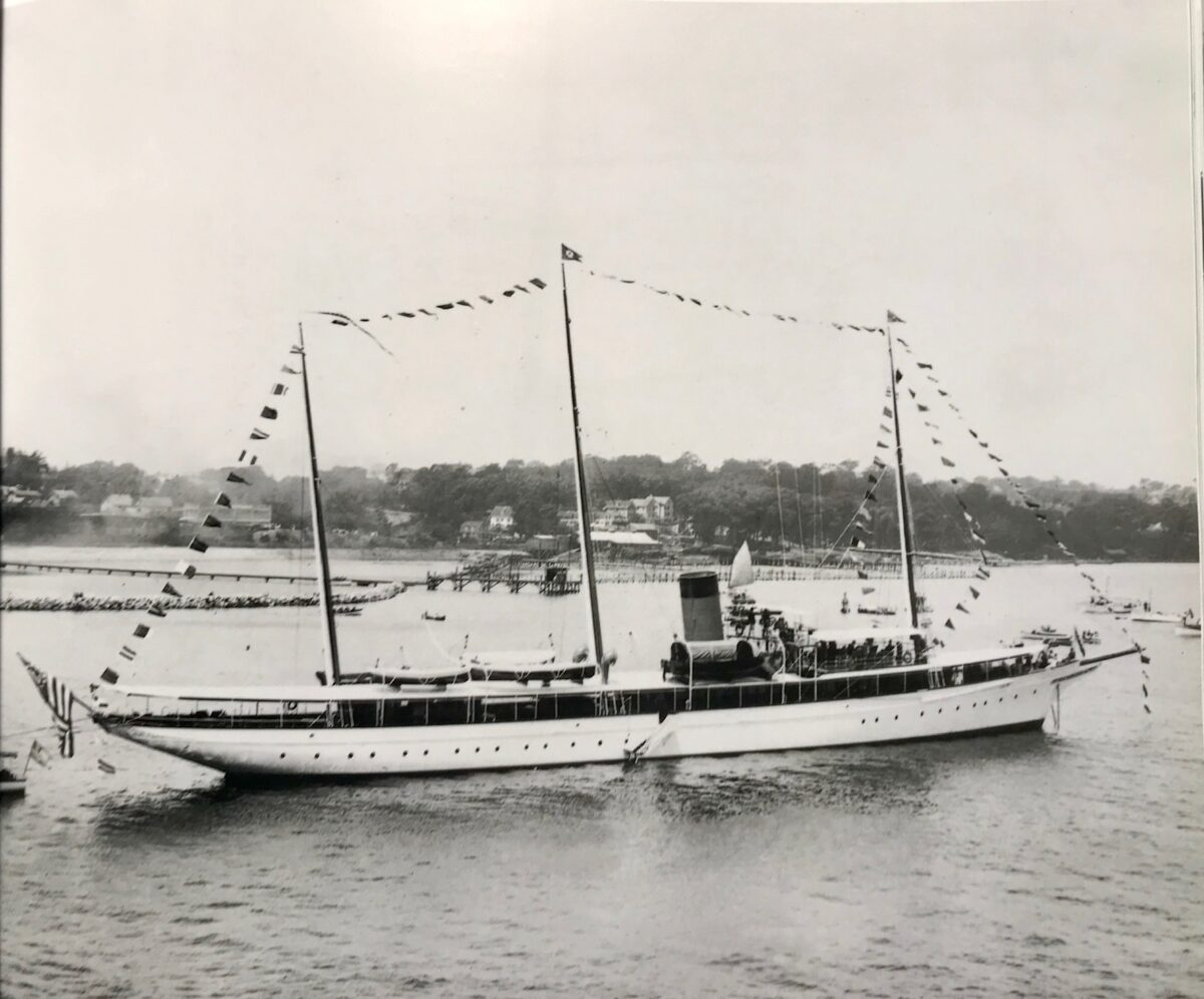 Kanawha was rechristened as the Antonio Maceo, a name honoring a Cuban general of African descent. Image from The Golden Century: Classic Motor Yachts 1830-1930 by Ross MacTaggart, SSHSA Maritime Research Library.