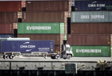 Containers backing up at the ports