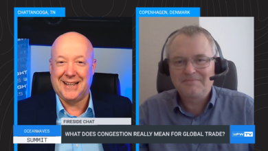 This OceanWaves fireside chat covers congestion and its impacts on global trade.
