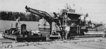 Paving operations along the right-of-way. (Pennsylvania Turnpike Commission)