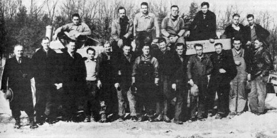 Crew of the L.M. Hutchison Company, the first contractor on the Turnpike. (Pennsylvania State Archives)