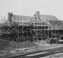Midway service plaza under construction. (Pennsylvania Turnpike Commission)