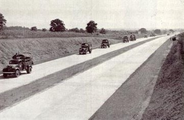 A military convoy on the Turnpike. (Photo: Pennsylvania Turnpike Commission)